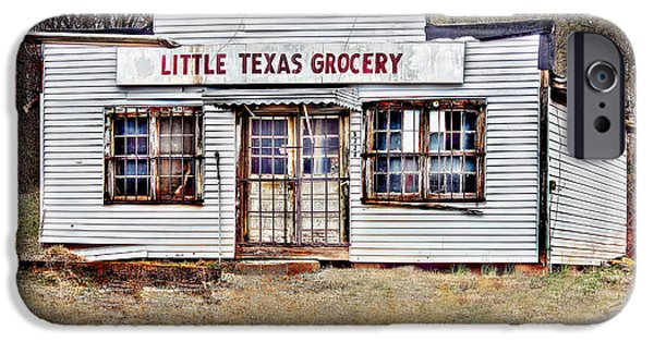 Buildings Mixed Media iPhone Cases - Little Texas Grocery iPhone Case by Bellesouth Studio
