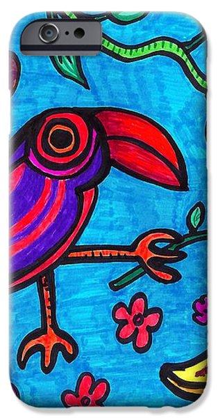 Little Toucan iPhone Case by Sarah Loft