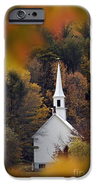 Little iPhone Cases - Little White Church - D007297 iPhone Case by Daniel Dempster