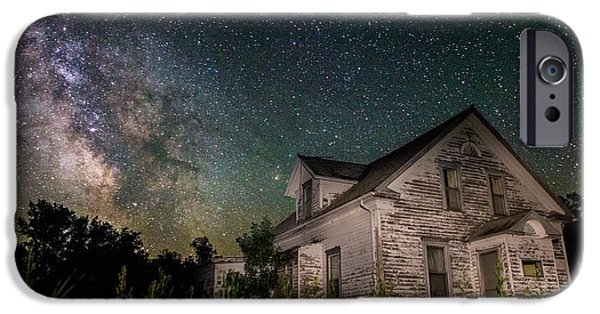 Dark Skies iPhone Cases - Little White House  iPhone Case by Aaron J Groen