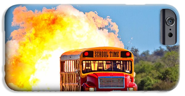 Combustion iPhone Cases - Late For School iPhone Case by Annette Hugen