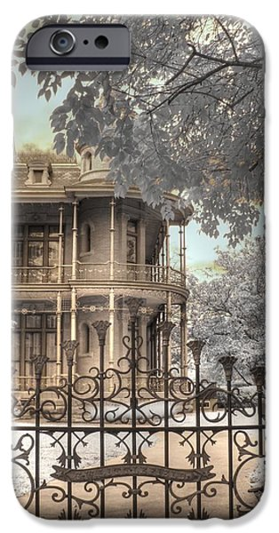 Haunted House iPhone Cases - Littlefield home iPhone Case by Jane Linders