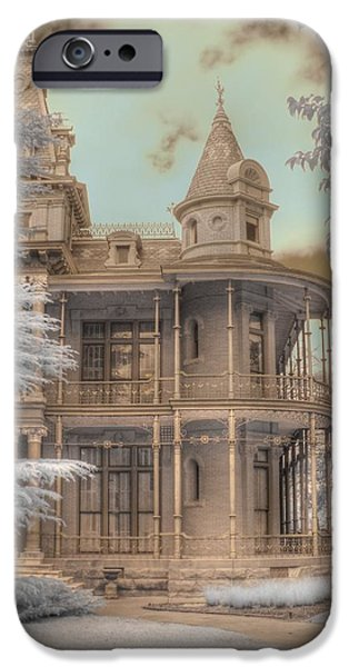 Haunted House iPhone Cases - Littlefield mansion iPhone Case by Jane Linders