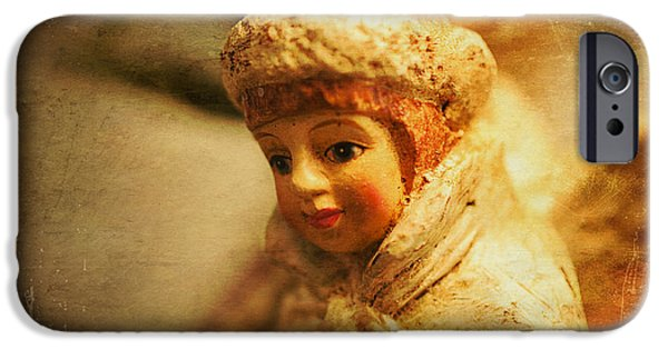 Seraphim Angel iPhone Cases - Littlest Angel iPhone Case by Terry Rowe