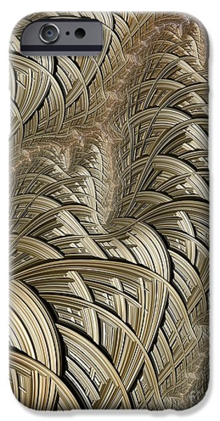 Braids iPhone Cases - Litz Wire Abstract iPhone Case by John Edwards