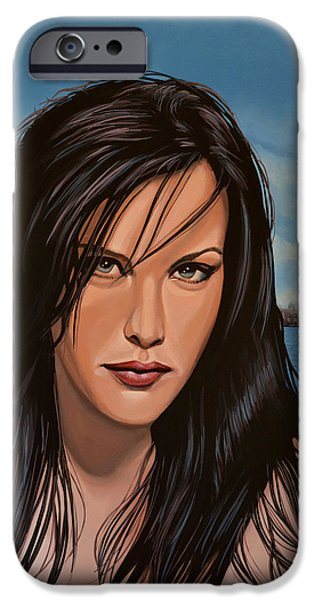 Celebrities Art iPhone Cases - Liv Tyler iPhone Case by Paul Meijering