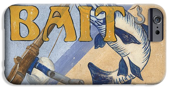 Graphic Design Paintings iPhone Cases - Live Bait iPhone Case by Debbie DeWitt