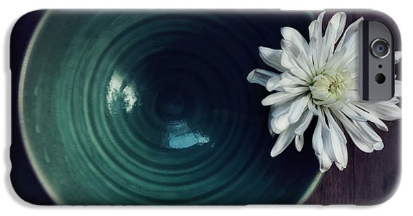 Floral Art iPhone Cases - Live Simply iPhone Case by Priska Wettstein