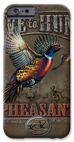 Gamebird iPhone Cases - Live To Hunt Pheasants iPhone Case by JQ Licensing