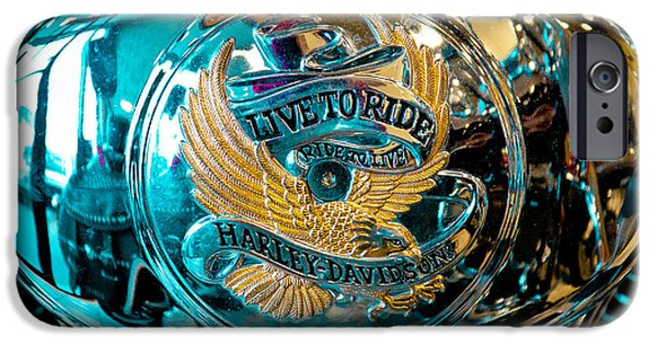 David Patterson iPhone Cases - Harley - Live to Ride - Ride to Live iPhone Case by David Patterson