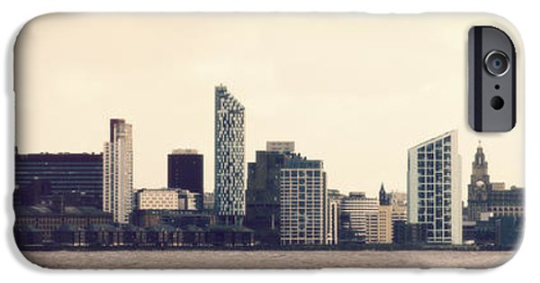 Business Digital iPhone Cases - Liverpool Skyline iPhone Case by Karen Lawrence  SMPhotography