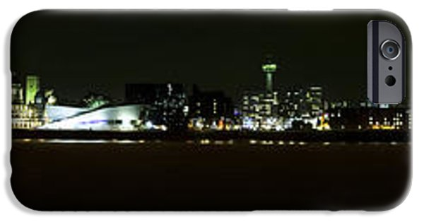 Beatles iPhone Cases - Liverpool Waterfront at Night iPhone Case by Karen Lawrence  SMPhotography