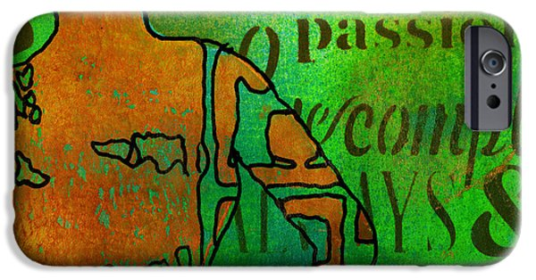 Printmaking iPhone Cases - Living Beautifully iPhone Case by Angela L Walker