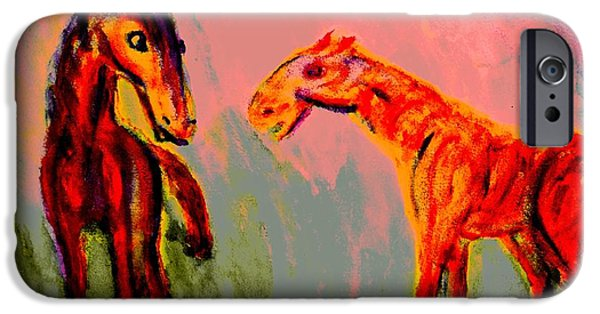 Component Paintings iPhone Cases - Living in my dreams  iPhone Case by Hilde Widerberg