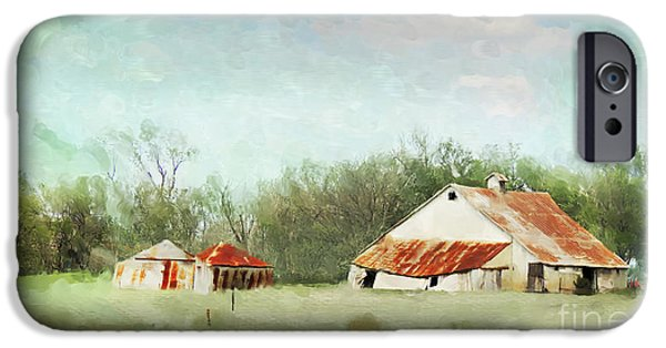 Farm Building iPhone Cases - Living in the Past iPhone Case by Betty LaRue