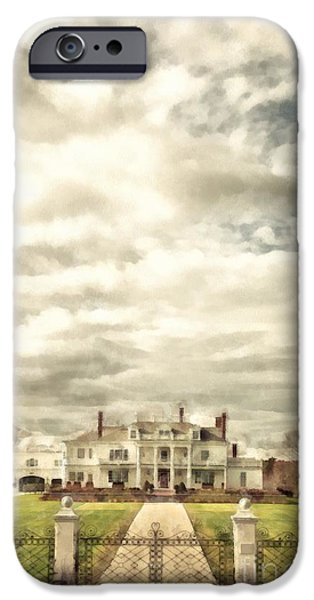 Mansion iPhone Cases - Living Large in Rye New Hampshire iPhone Case by Edward Fielding