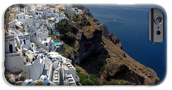 Greece iPhone Cases - Living On The Edge iPhone Case by Mel Steinhauer