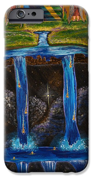 Art By God iPhone Cases - Living Water iPhone Case by Cassie Sears
