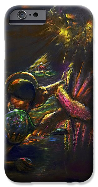 Religious Pastels iPhone Cases - Living Water iPhone Case by Tommy  Winn