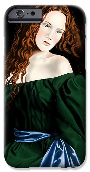 Lizzie Siddal iPhone Case by Andrew Harrison