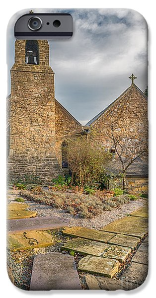 13th Century iPhone Cases - Llanasa Church iPhone Case by Adrian Evans