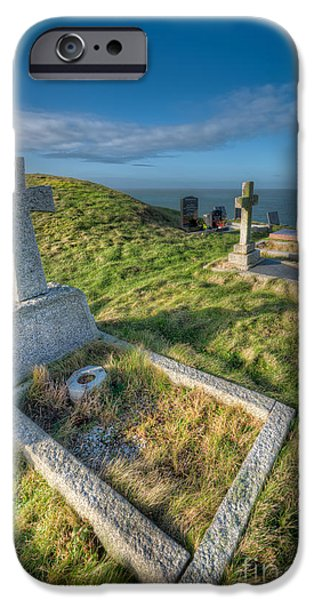 Cemetary iPhone Cases - Llanbadrig Cemetery iPhone Case by Adrian Evans