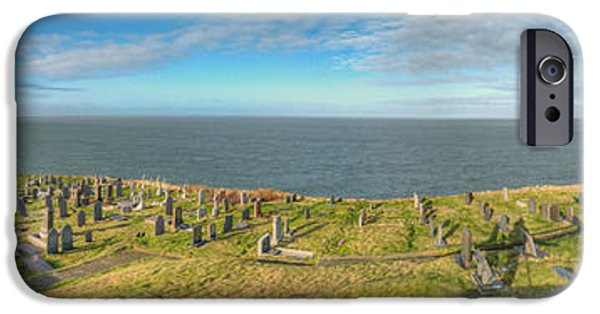 Cemetary iPhone Cases - Llanbadrig Church Panorama iPhone Case by Adrian Evans