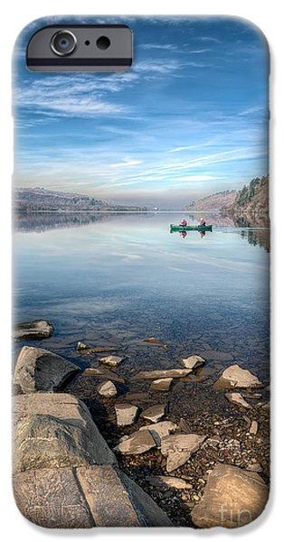 Autumn iPhone Cases - Llanberis Lake iPhone Case by Adrian Evans