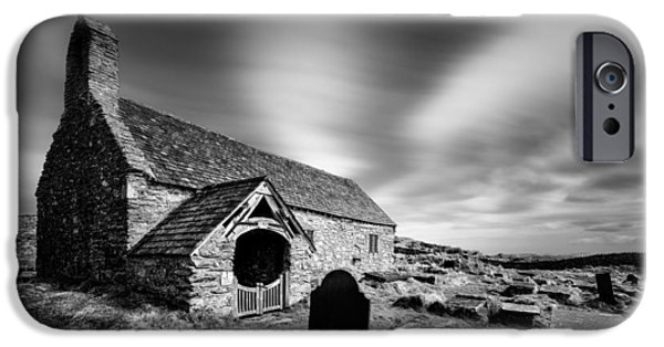 Drama iPhone Cases - Llangelynnin Church iPhone Case by Dave Bowman