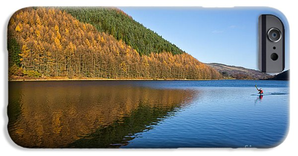 Green Canoe iPhone Cases - Llyn Geirionydd iPhone Case by Adrian Evans