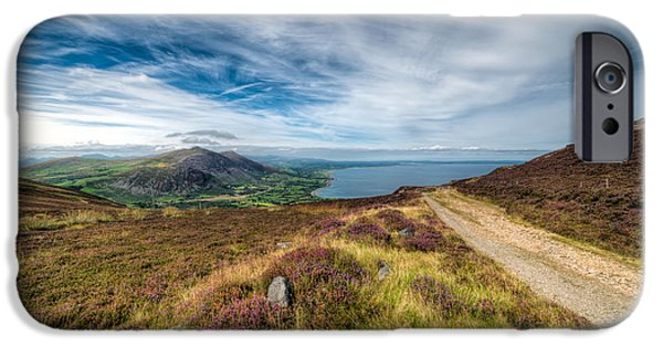 Walkway Digital Art iPhone Cases - Llyn Peninsula iPhone Case by Adrian Evans