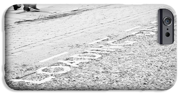 Asphalt iPhone Cases - Loading area iPhone Case by Tom Gowanlock