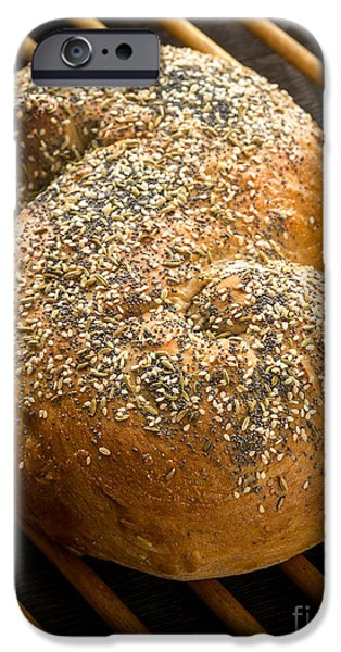 Bread iPhone Cases - Loaf of Fresh Baked Bread iPhone Case by Edward Fielding