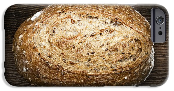 Bread iPhone Cases - Loaf of multigrain artisan bread iPhone Case by Elena Elisseeva