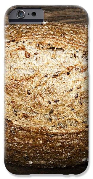 Loaf of multigrain artisan bread iPhone Case by Elena Elisseeva
