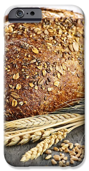 Loaf of multigrain bread iPhone Case by Elena Elisseeva