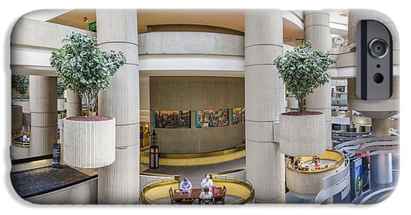Renaissance Center iPhone Cases - Lobby of the Renaissance Center iPhone Case by John McGraw