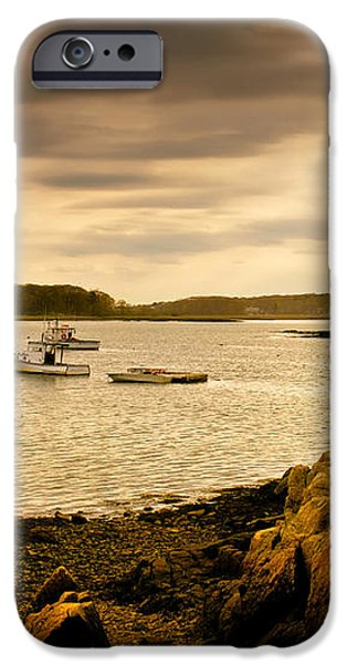 Lobster Boats Cape Porpoise Maine iPhone Case by Bob Orsillo
