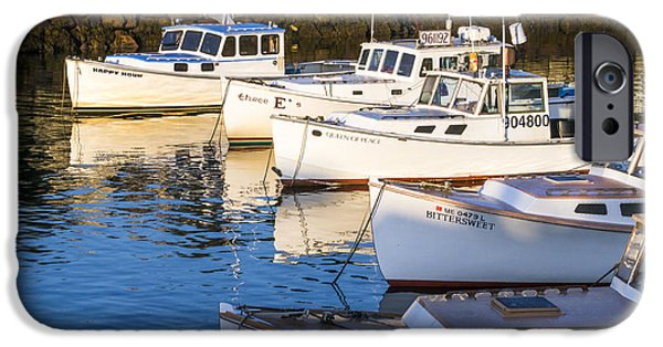 Michelle iPhone Cases - Lobster Boats - Perkins Cove -Maine iPhone Case by Steven Ralser
