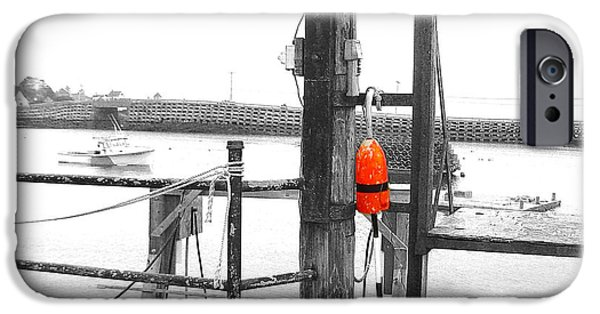 Lobster Bouys iPhone Cases - Lobster Buoy iPhone Case by Donnie Freeman
