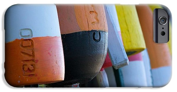 Marine iPhone Cases - Lobster Buoys iPhone Case by Stuart Litoff