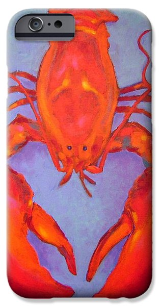 Decorative Art iPhone Cases - Lobster iPhone Case by John  Nolan