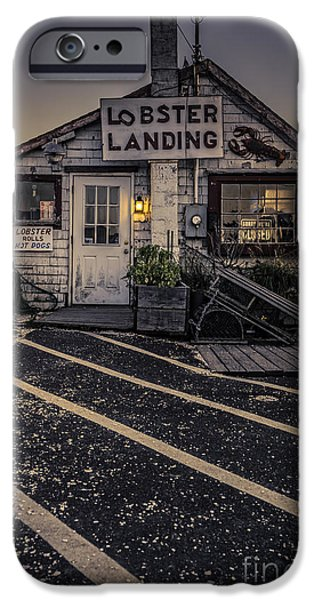 Vendor iPhone Cases - Lobster Landing Shack Restaurant at Sunset iPhone Case by Edward Fielding