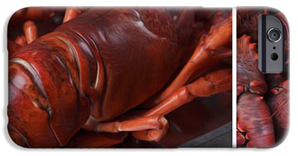 Wide iPhone Cases - Lobster iPhone Case by Nailia Schwarz