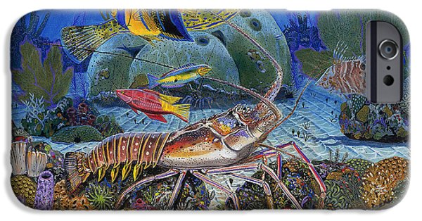 Atlantis iPhone Cases - Lobster Sanctuary Re0016 iPhone Case by Carey Chen