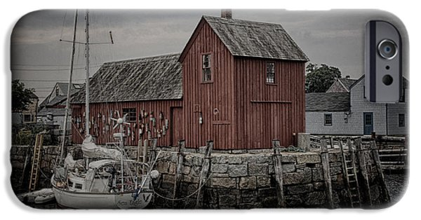 Fishing Shack iPhone Cases - Lobster Shack - Rockport iPhone Case by Stephen Stookey
