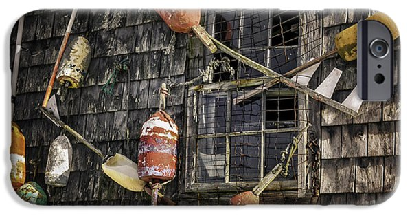 Lobster Shack iPhone Cases - Lobster Shack Window Dressing iPhone Case by Thomas Schoeller