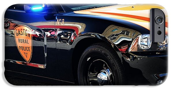 Police Cruiser iPhone Cases - Local Police Cruiser iPhone Case by JW Hanley