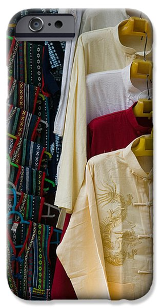 Chinese Market iPhone Cases - Local Shirts For Sale, Dali, Yunnan iPhone Case by Panoramic Images
