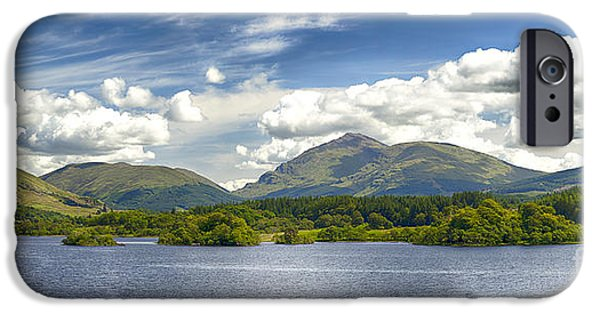 Ruin iPhone Cases - Loch Awe Scotland iPhone Case by Sophie McAulay